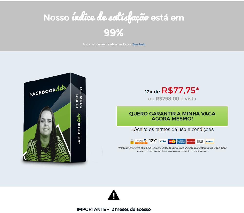 Landing page de vendas Camila Porto