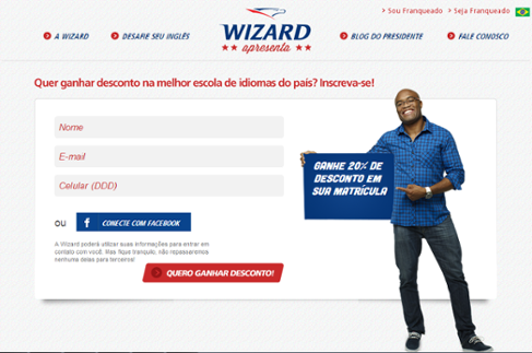 exemplo landing page wizard