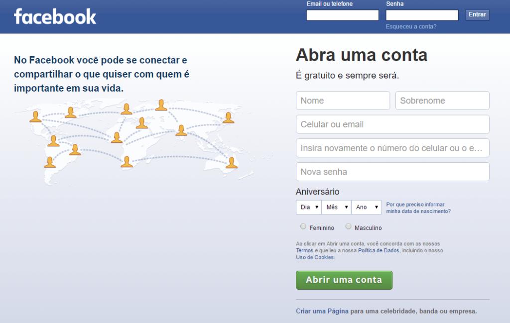 Página Facebook para Empresas